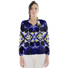 Fractal Fantasy Blue Beauty Wind Breaker (Women)