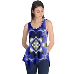 Fractal Fantasy Blue Beauty Sleeveless Tunic