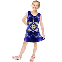 Fractal Fantasy Blue Beauty Kids  Tunic Dress