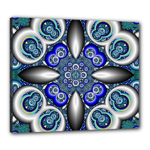 Fractal Cathedral Pattern Mosaic Canvas 24  x 20