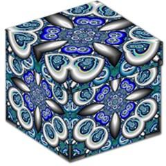 Fractal Cathedral Pattern Mosaic Storage Stool 12