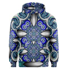 Fractal Cathedral Pattern Mosaic Men s Pullover Hoodie