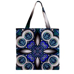Fractal Cathedral Pattern Mosaic Zipper Grocery Tote Bag