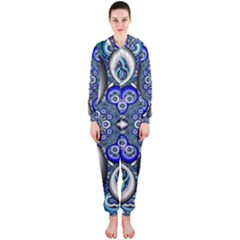 Fractal Cathedral Pattern Mosaic Hooded Jumpsuit (Ladies)