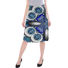 Fractal Cathedral Pattern Mosaic Midi Beach Skirt
