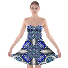 Fractal Cathedral Pattern Mosaic Strapless Bra Top Dress