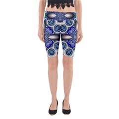 Fractal Cathedral Pattern Mosaic Yoga Cropped Leggings