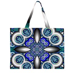 Fractal Cathedral Pattern Mosaic Large Tote Bag