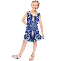 Fractal Cathedral Pattern Mosaic Kids  Tunic Dress