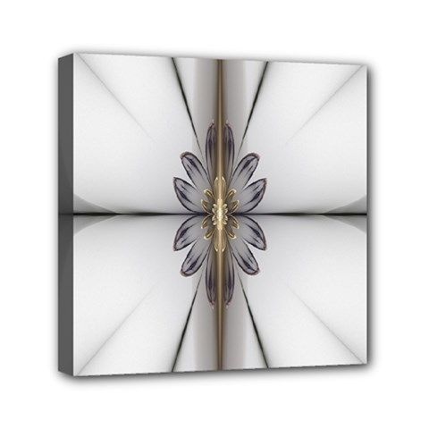 Fractal Fleur Elegance Flower Mini Canvas 6  x 6