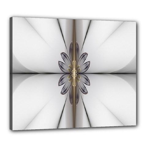 Fractal Fleur Elegance Flower Canvas 24  x 20
