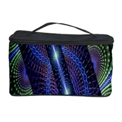 Fractal Blue Lines Colorful Cosmetic Storage Case