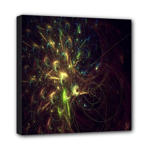 Fractal Flame Light Energy Mini Canvas 8  x 8