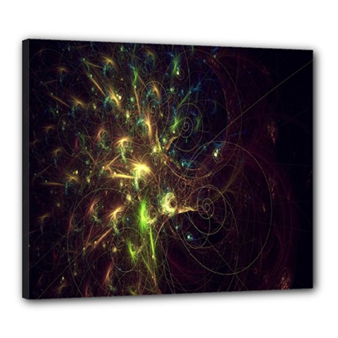 Fractal Flame Light Energy Canvas 24  X 20