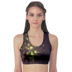 Fractal Flame Light Energy Sports Bra