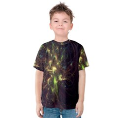 Fractal Flame Light Energy Kids  Cotton Tee