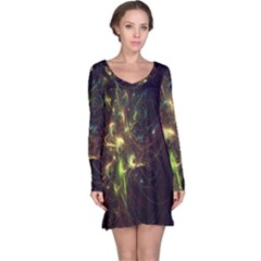 Fractal Flame Light Energy Long Sleeve Nightdress