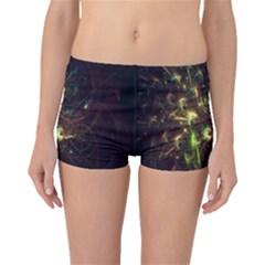 Fractal Flame Light Energy Boyleg Bikini Bottoms