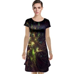Fractal Flame Light Energy Cap Sleeve Nightdress