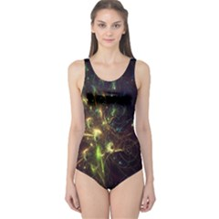 Fractal Flame Light Energy One Piece Swimsuit