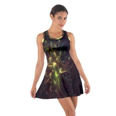 Fractal Flame Light Energy Cotton Racerback Dress