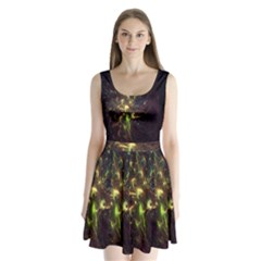 Fractal Flame Light Energy Split Back Mini Dress