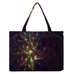 Fractal Flame Light Energy Medium Zipper Tote Bag
