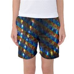Fractal Digital Art Women s Basketball Shorts