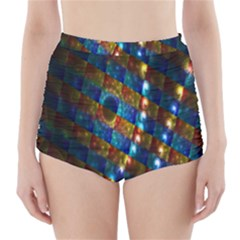 Fractal Digital Art High-Waisted Bikini Bottoms