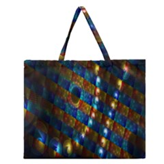 Fractal Digital Art Zipper Large Tote Bag