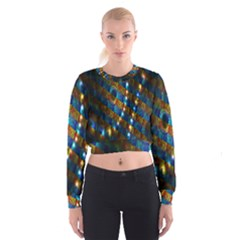 Fractal Digital Art Women s Cropped Sweatshirt