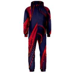Fractal Fractal Art Digital Art Hooded Jumpsuit (men)