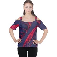 Fractal Fractal Art Digital Art Women s Cutout Shoulder Tee