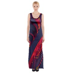 Fractal Fractal Art Digital Art Maxi Thigh Split Dress
