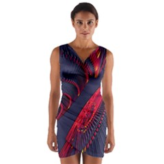 Fractal Fractal Art Digital Art Wrap Front Bodycon Dress