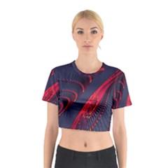 Fractal Fractal Art Digital Art Cotton Crop Top