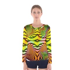 Fractals Ball About Abstract Women s Long Sleeve Tee