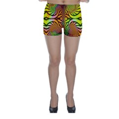 Fractals Ball About Abstract Skinny Shorts