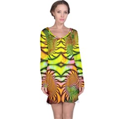 Fractals Ball About Abstract Long Sleeve Nightdress
