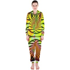 Fractals Ball About Abstract Hooded Jumpsuit (Ladies)