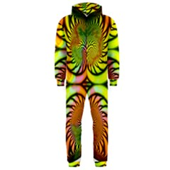 Fractals Ball About Abstract Hooded Jumpsuit (Men)