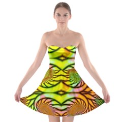 Fractals Ball About Abstract Strapless Bra Top Dress