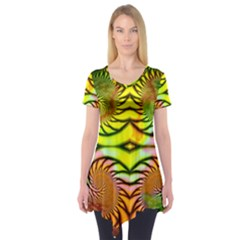 Fractals Ball About Abstract Short Sleeve Tunic