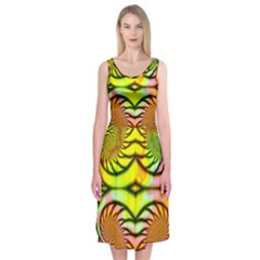Fractals Ball About Abstract Midi Sleeveless Dress