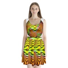 Fractals Ball About Abstract Split Back Mini Dress