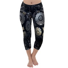 Fractal Sphere Steel 3d Structures Capri Winter Leggings