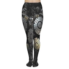 Fractal Sphere Steel 3d Structures Women s Tights