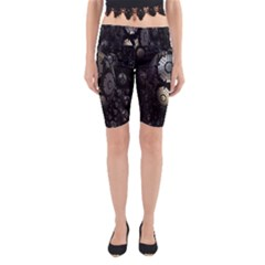 Fractal Sphere Steel 3d Structures Yoga Cropped Leggings