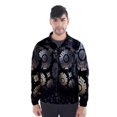 Fractal Sphere Steel 3d Structures Wind Breaker (men)