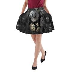 Fractal Sphere Steel 3d Structures A-Line Pocket Skirt